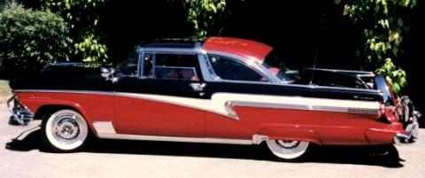 1956 Meteor Crown Victoria Glasstop